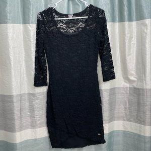 NWOT Guess black lace dress.